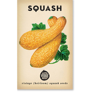 Squash 'Golden Summer Crookneck' Heirloom Seeds