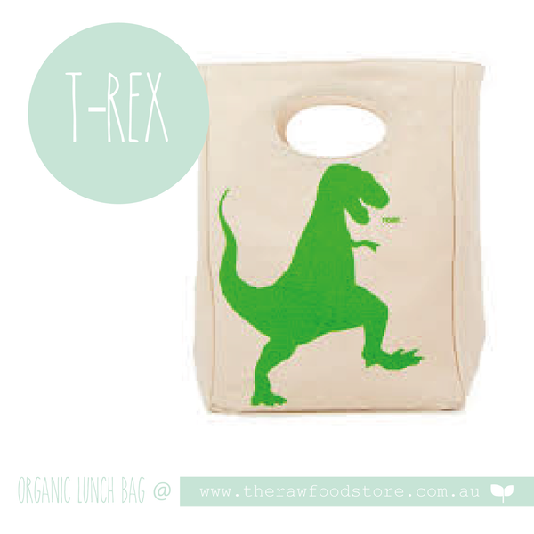 Fluf Organic Lunch Bag - T Rex