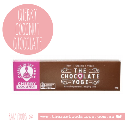 The Chocolate Yogi -  Cherry Coconut Chocolate 47g