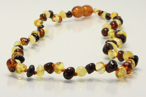 Amberbebe - Multi  - Amber Necklace 33cm