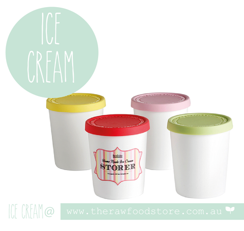 Ice Cream Containers at The Raw Food Store