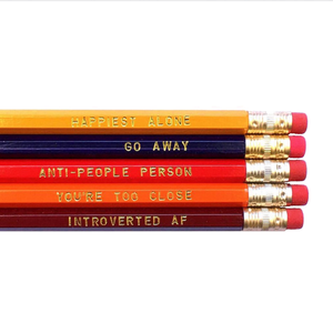 Introvert's Pencil Set