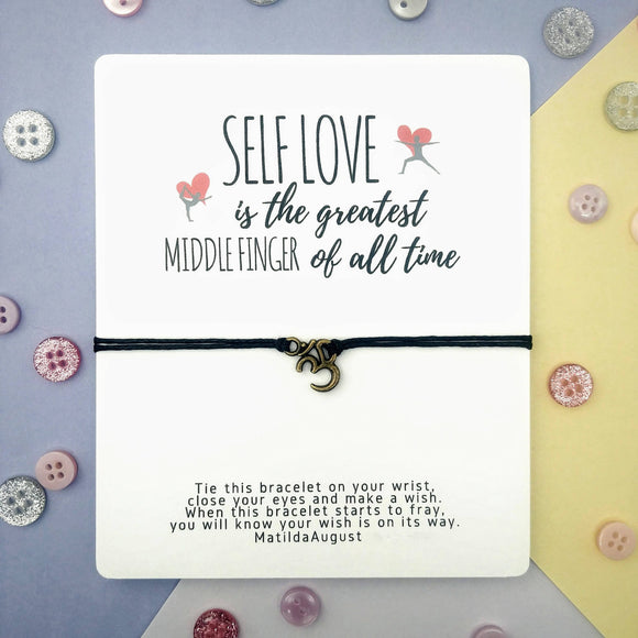 Self Love Wish Bracelet (Big Card)