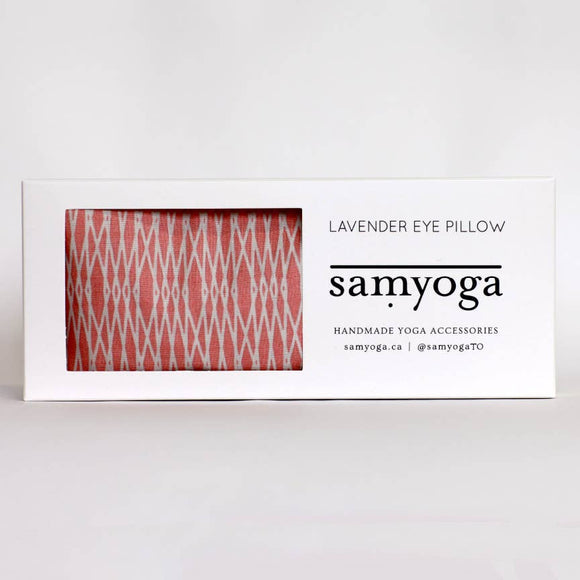 Lavender Eye Pillow - Pink Geometric