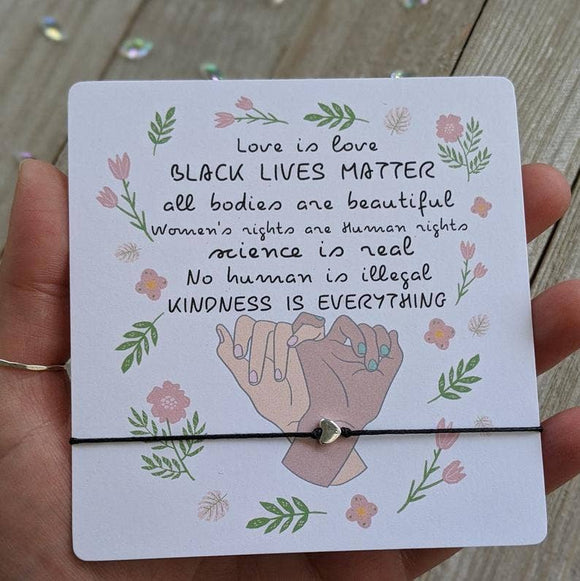Black Lives Matter, Love is Love, Kindness (Big Card)