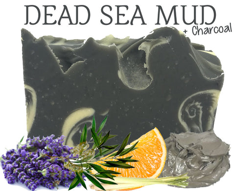 Dead Sea Mud + Charcoal 100% Natural Artisan Soap
