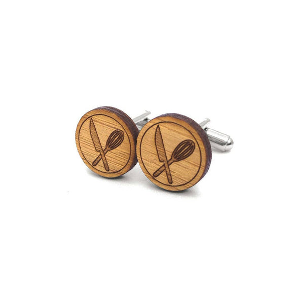 Bamboo Cufflinks - Chef