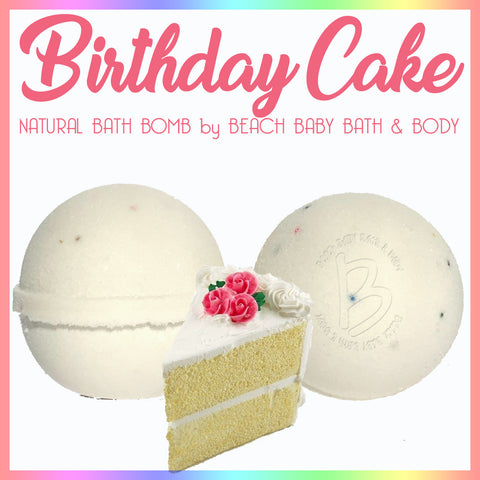 BIRTHDAY CAKE Natural Bath Bomb