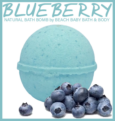 BLUEBERRY Natural Bath Bomb