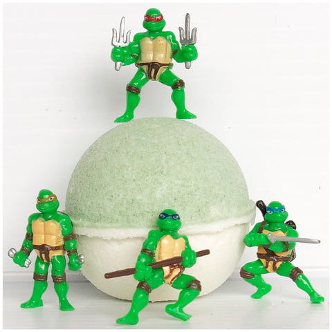 Lemon Lime Natural Bath Bomb (with Ninja Turtles™ inside)