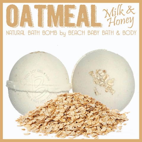OATMEAL, MILK & HONEY Natural Bath Bomb