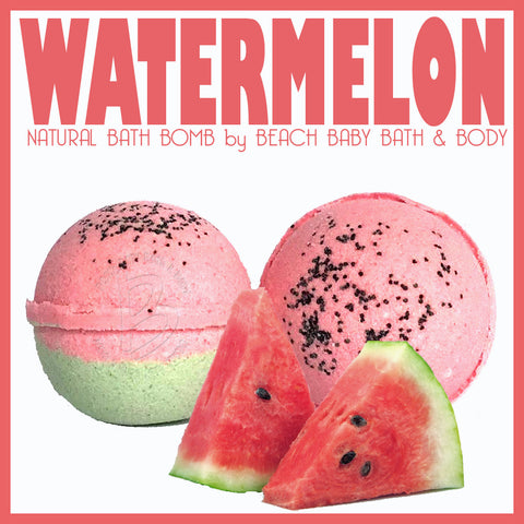 WATERMELON Natural Bath Bomb