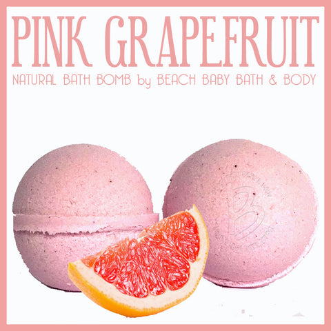Pink Grapefruit Natural Bath Bomb