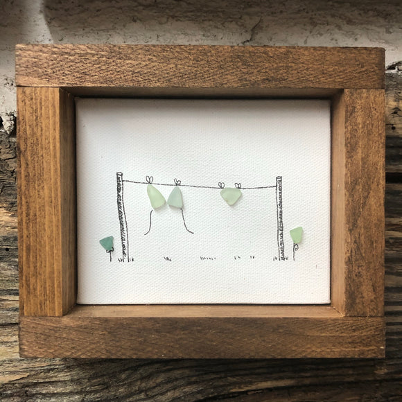 4 x 5 Framed Sea Glass Art