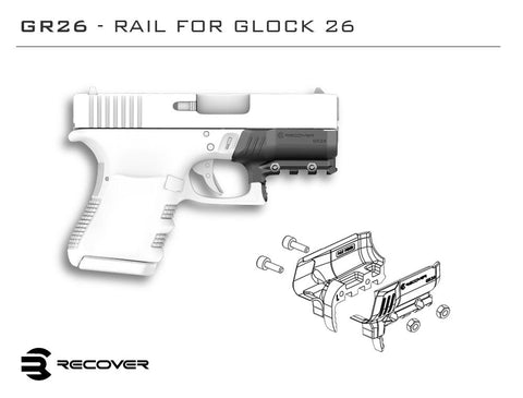 Glock 26 and 27 Rail Adapter