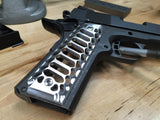 "1911 Government/Commander Grips Aluminum ""Cobra Skeleton"" BRUSHED FINISH"