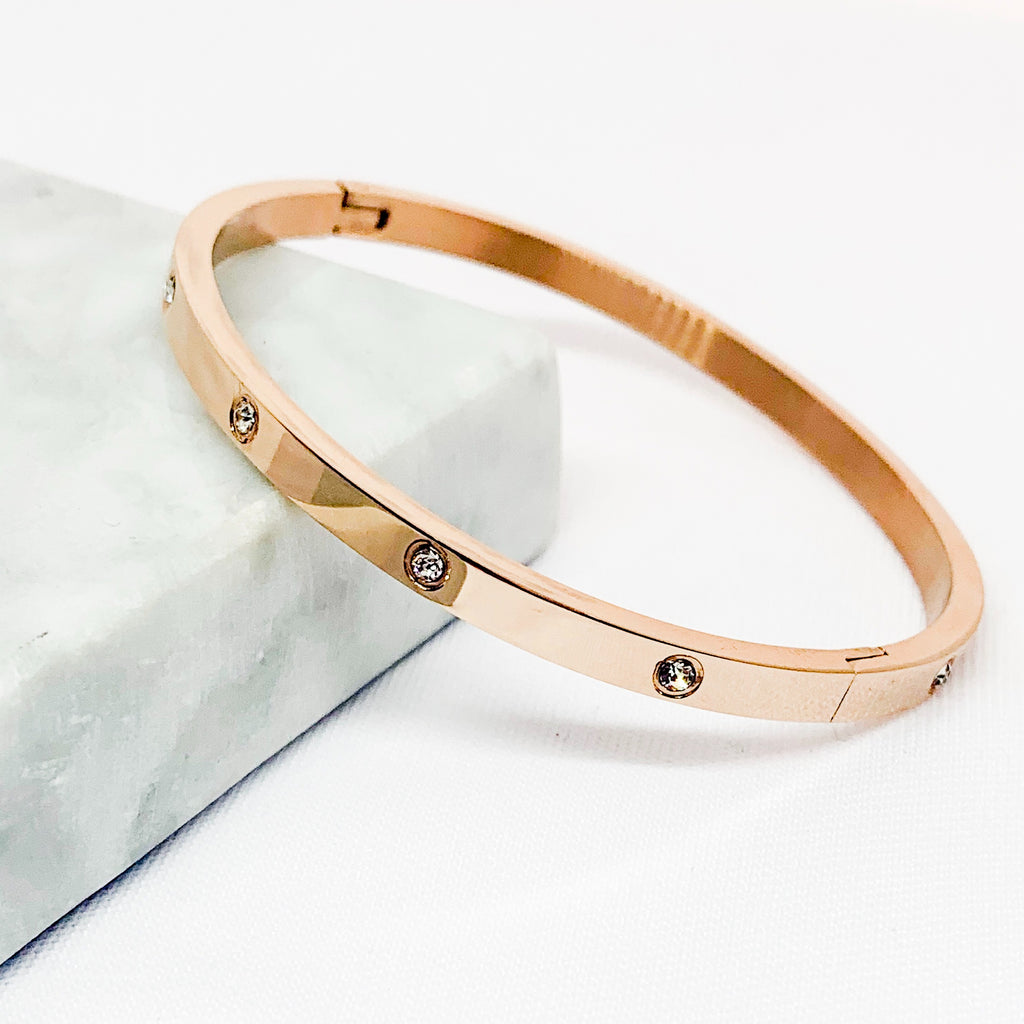 Statement Rose Gold Bracelet