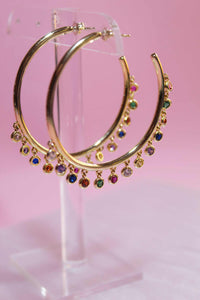 Rainbow Drops Hoops