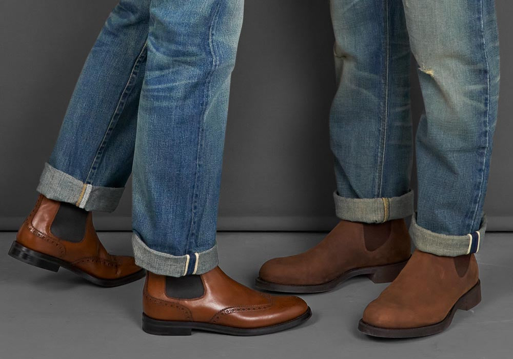 chelsea boots and jeans