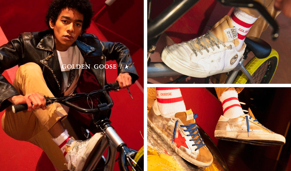Golden Goose, Hand Made Vintage Style Sneakers