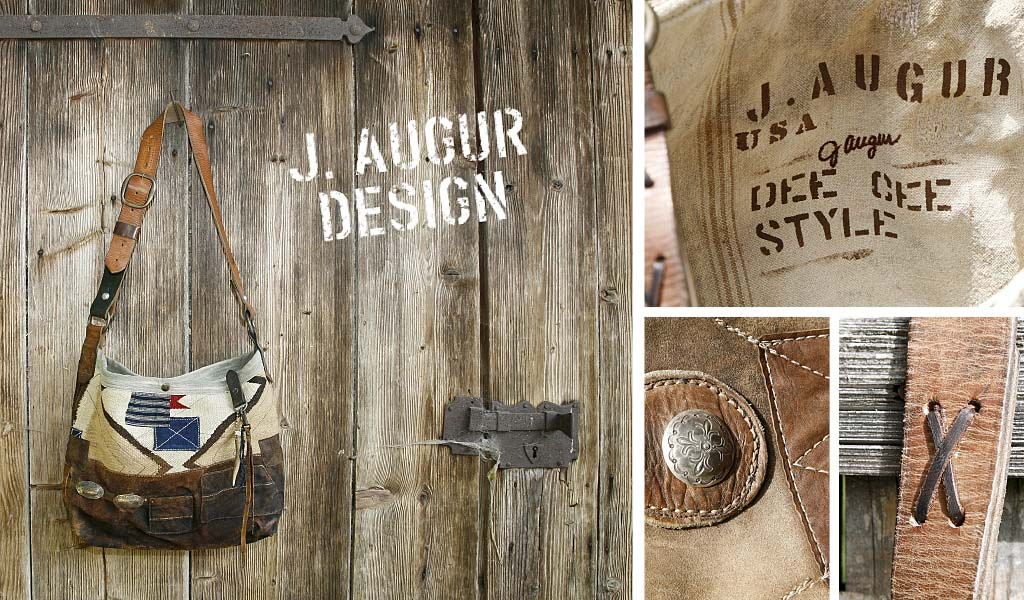 J. Augur Design, sustainable art and design from reclaimed fabrics