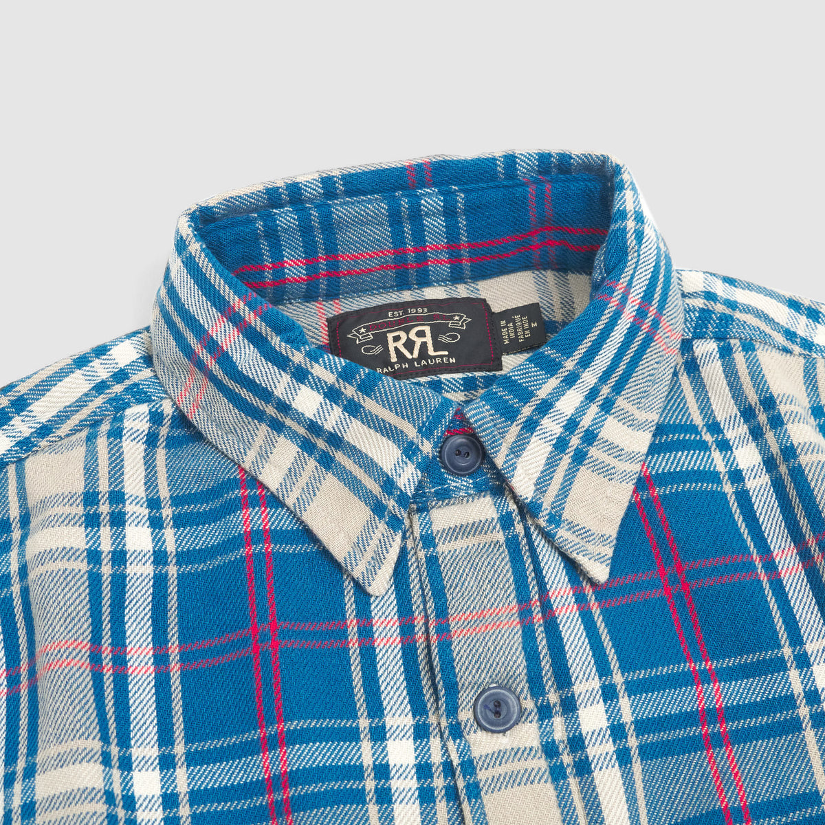 Double RL Indigo Plaid Workshirt