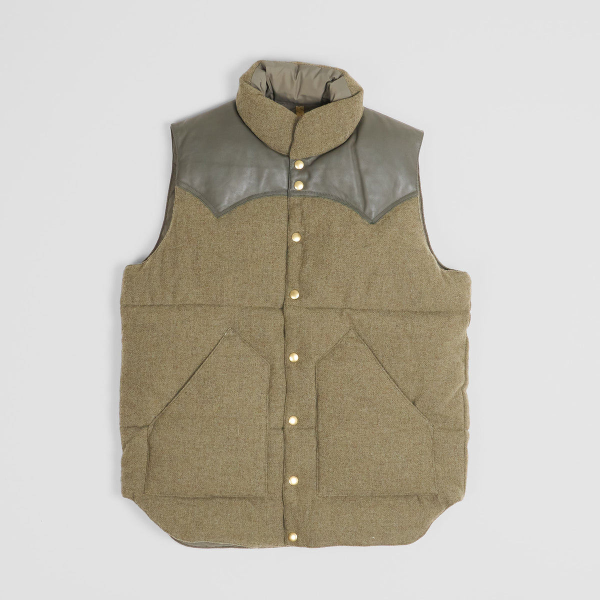 Rocky Mountain Featherbed Green Wool Down Vest