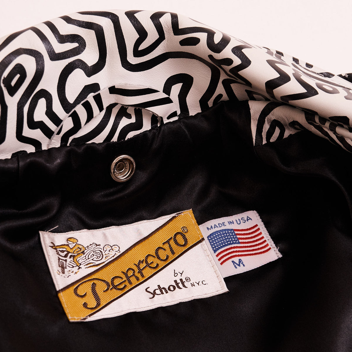 Schott NYC Ladies Keith Haring x Schott Perfecto Leather Jacket