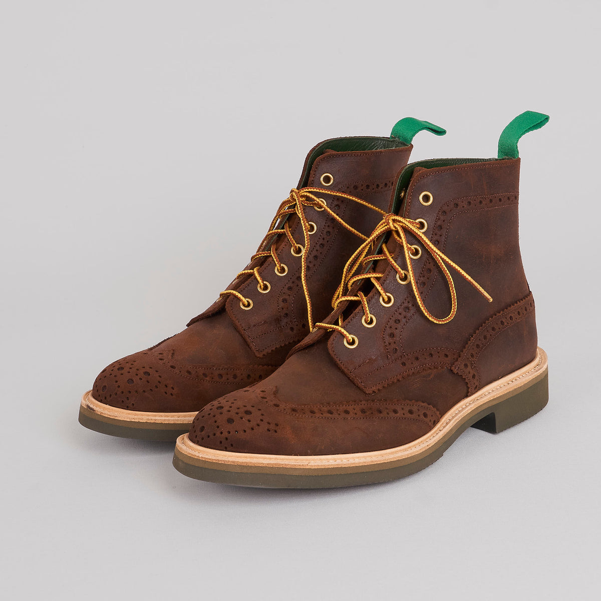 Trickers Suede Brogue Boot