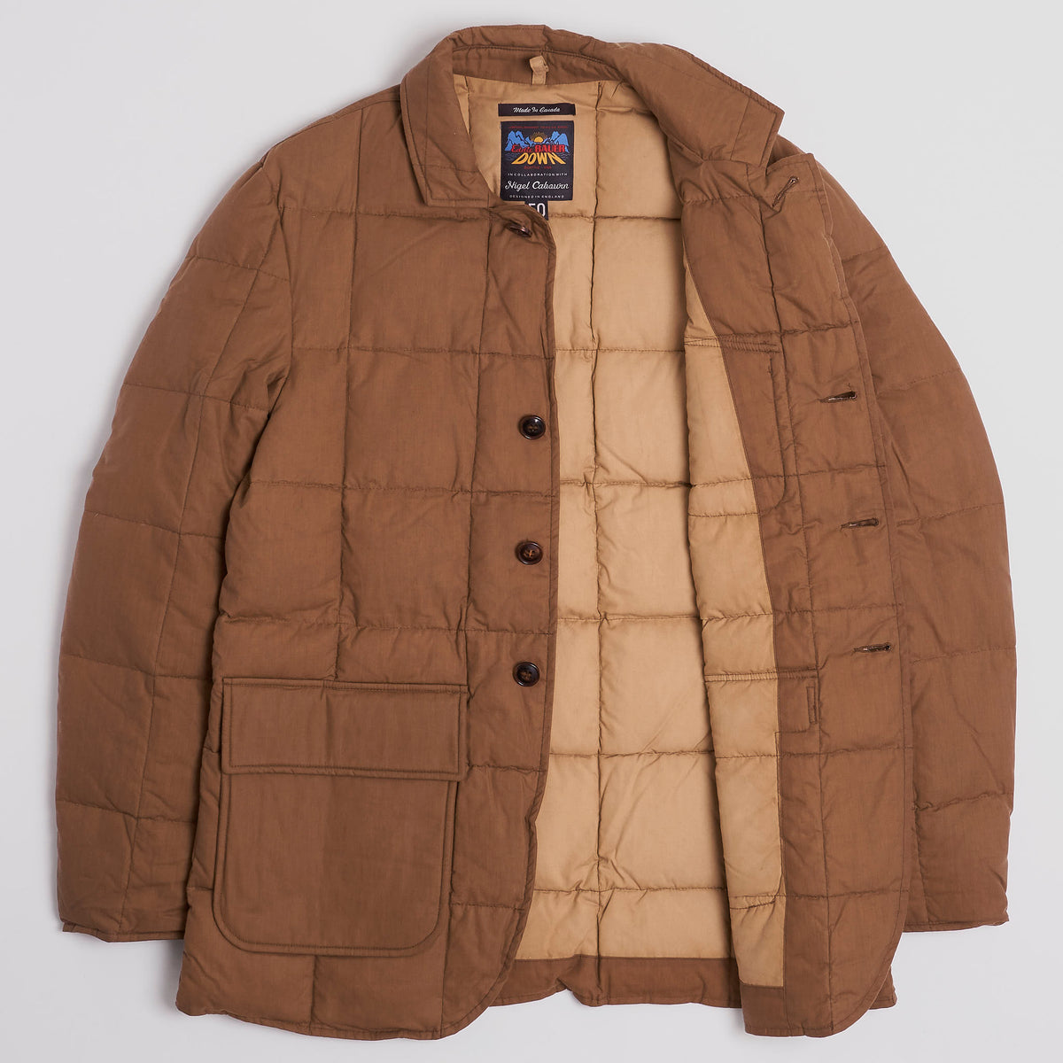 Nigel Cabourn Quilted Oil Cotton Jacket