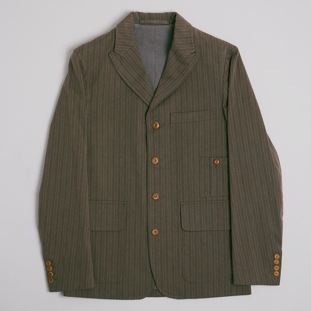 Nigel Cabourn 1910 Peak Lapel Stripe Veston