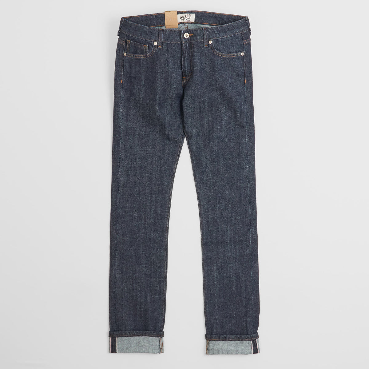 Naked & Famous x DeeCee style Ladies Selvage Denim The Straight Rinsed