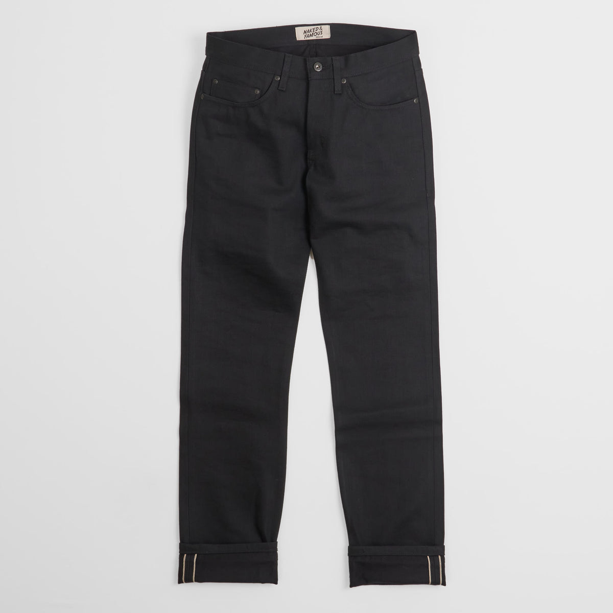 Naked & Famous Black Denim Weird Guy