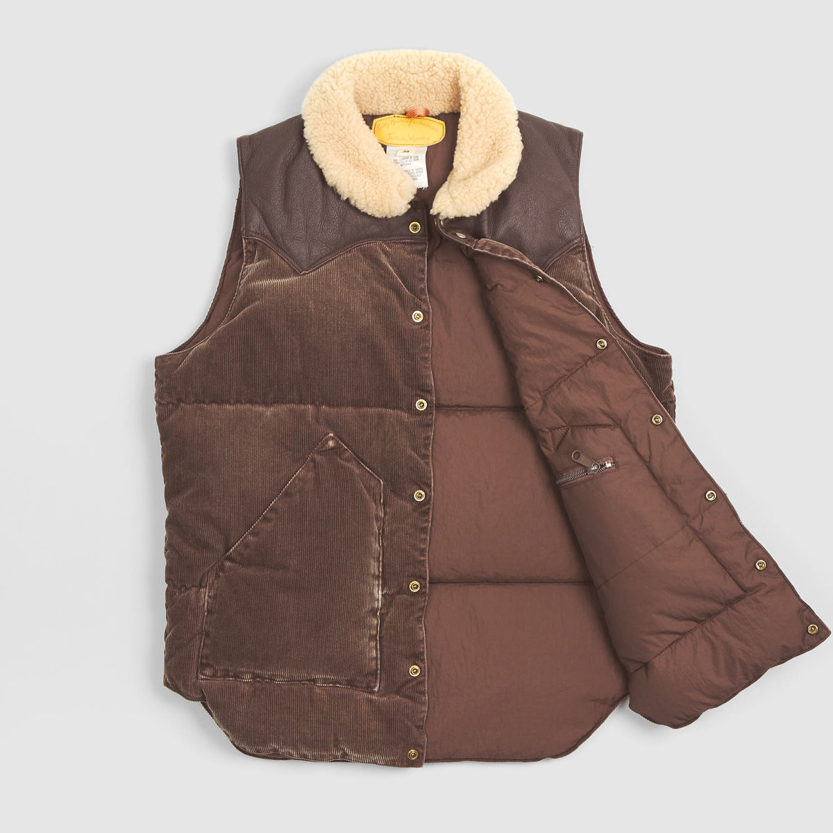 Rocky Mountain Featherbed Corduroy Down Vest