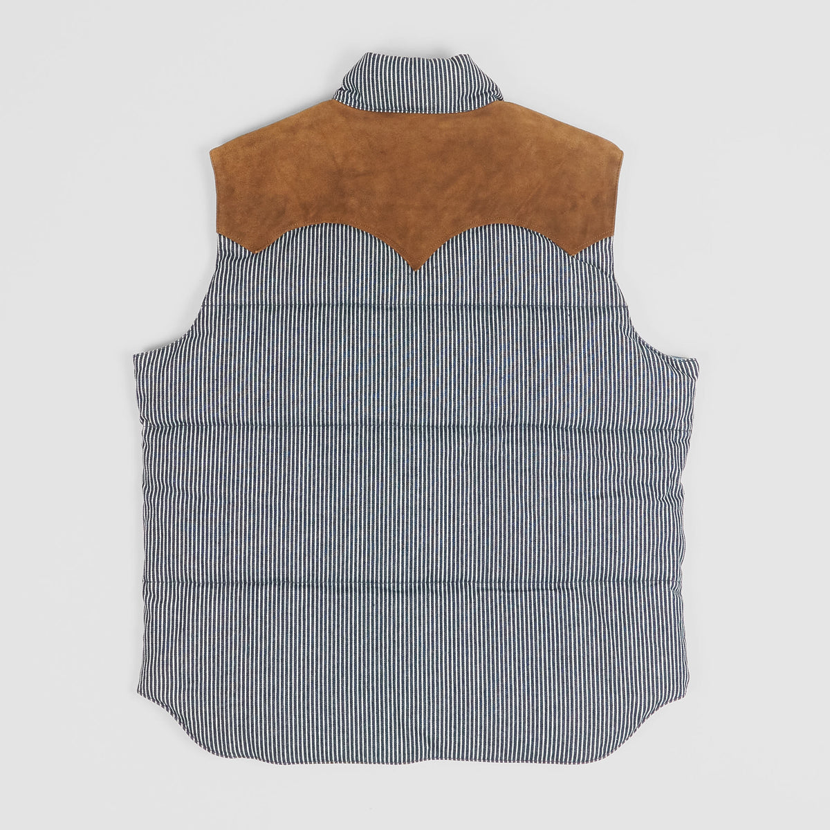 Sugar Cane Denim Stripe Down Vest