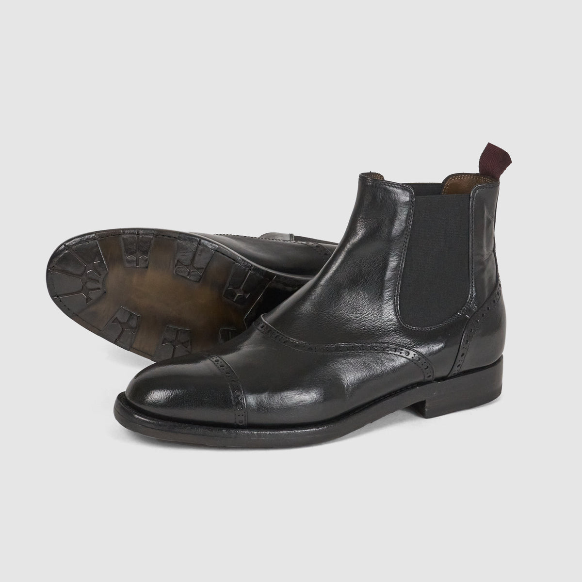 Sassetti Ladies Oxford Brogue Chelsea Boot