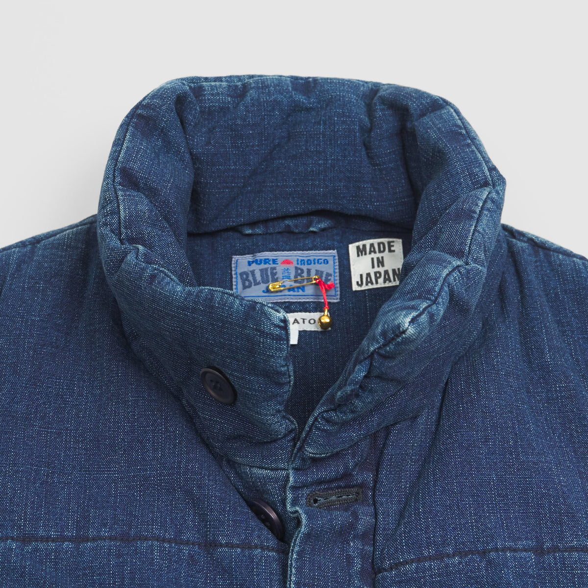 Blue Blue Japan Padded Denim Vest
