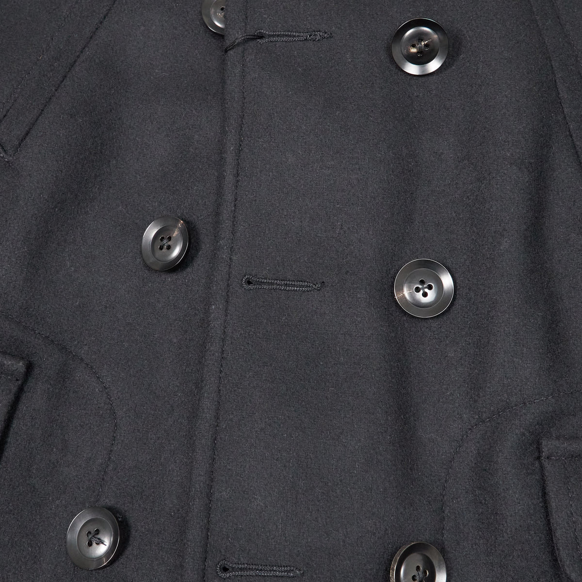 Black Sign Gaucho Leather/WoolCoat