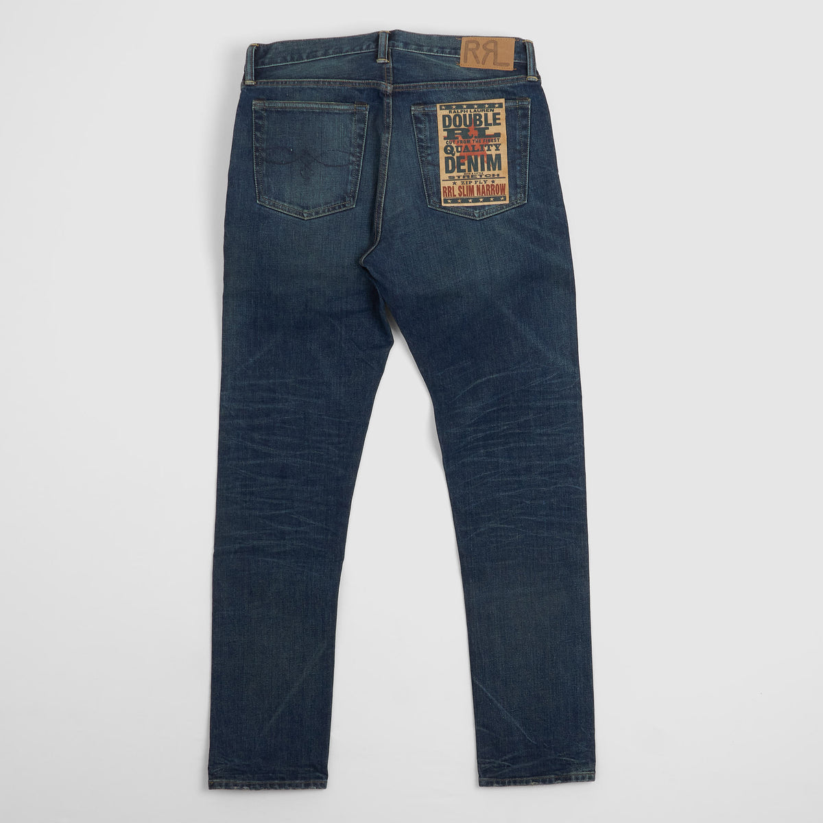 Double RL Slim Narrow Denim Jeans (Stone Washed)
