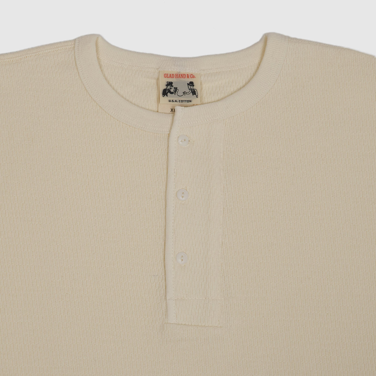 Old Crow Speed Shop by Glad Hand & Co. Longsleeve Henley Waffle Shirt