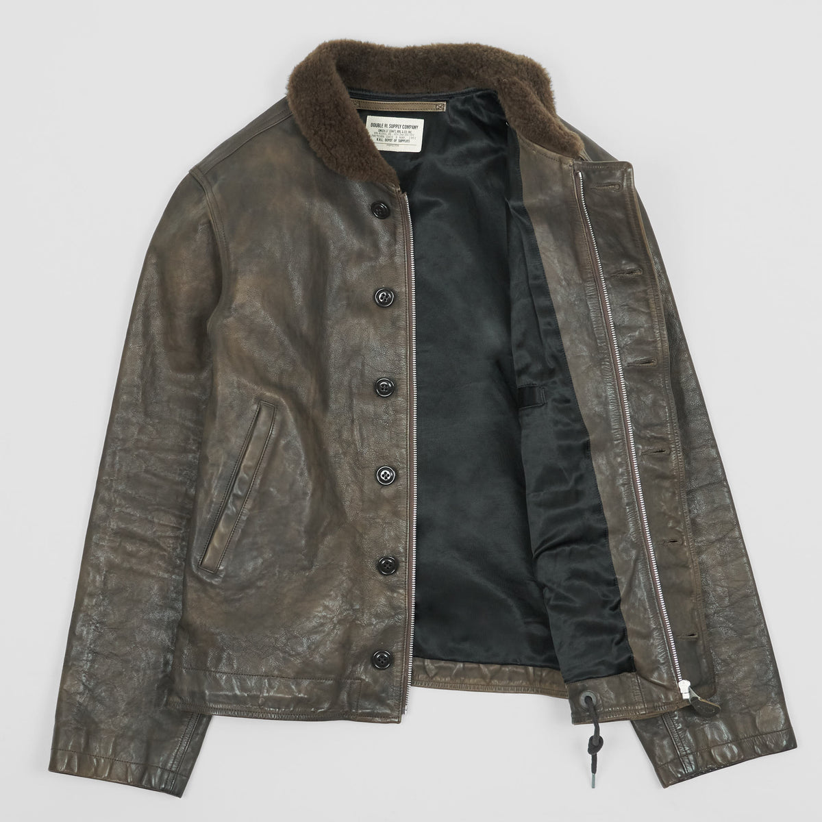 Double RL Limited Leather N-1 Deck Jacket