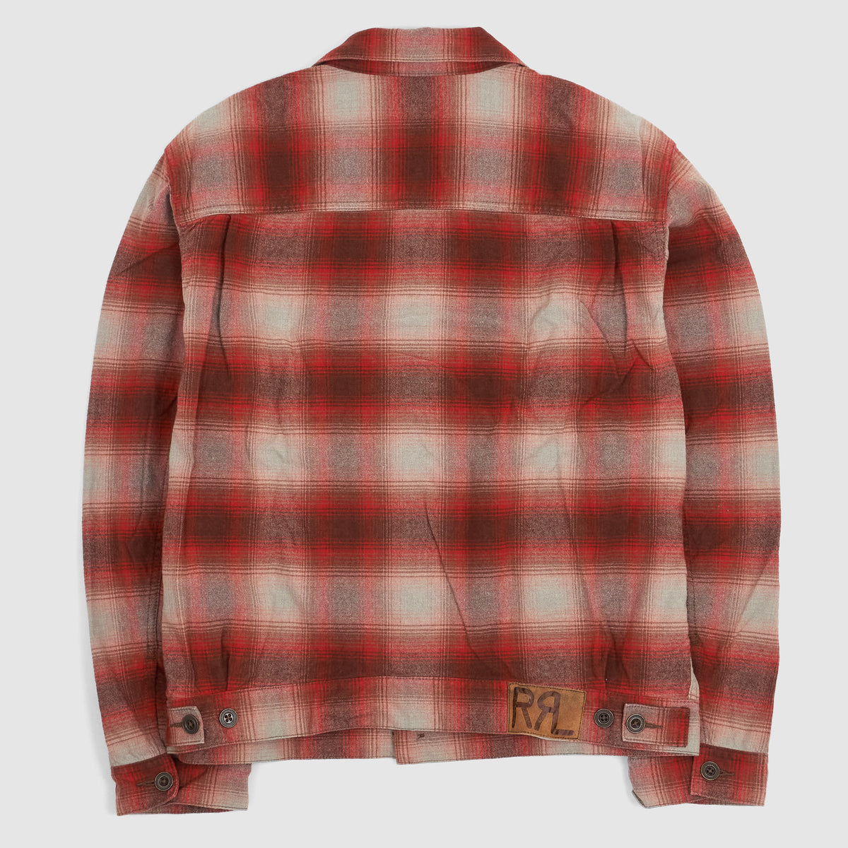Double RL Plaid Shirt Jacket