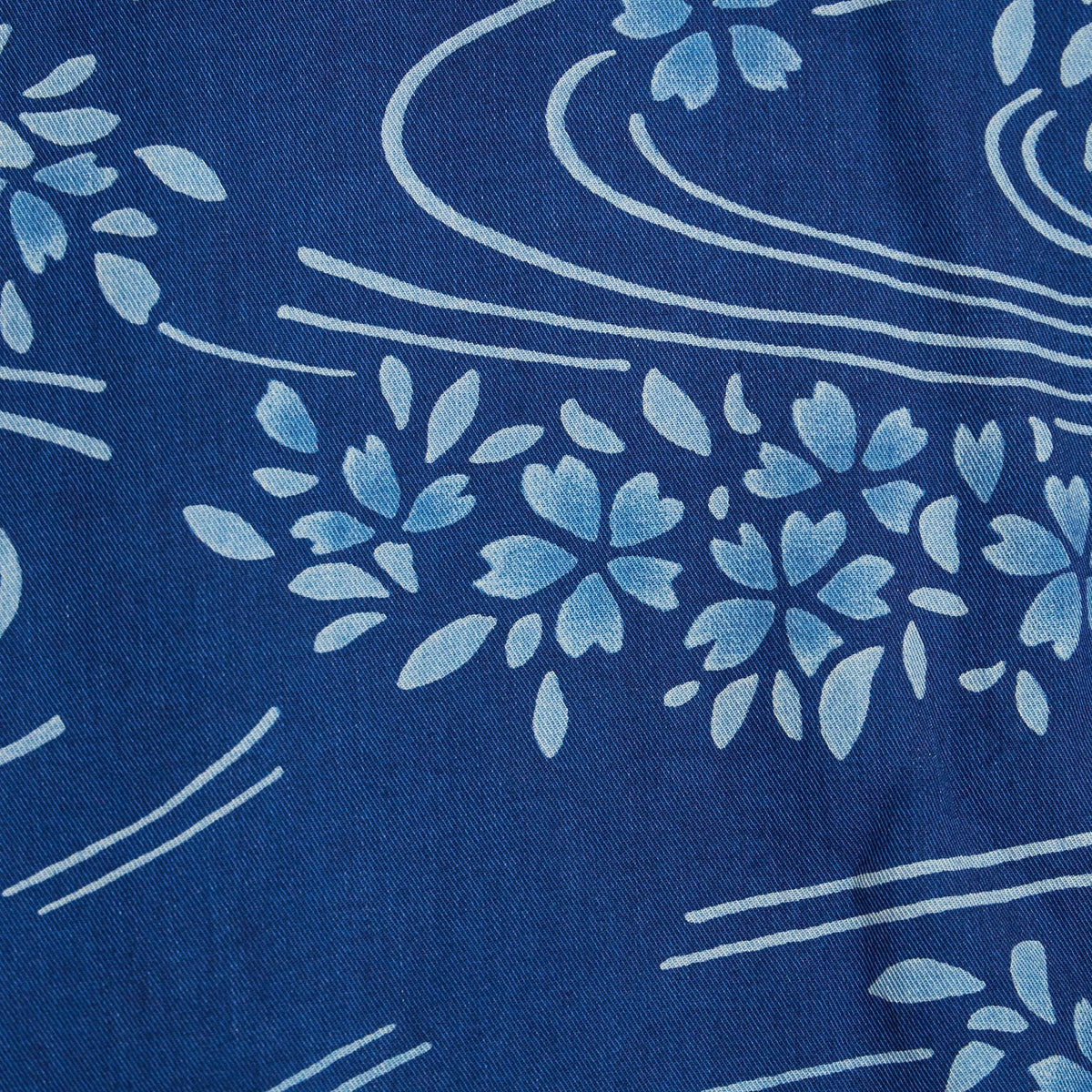 Blue Blue Japan Sakura Rayon Twill
