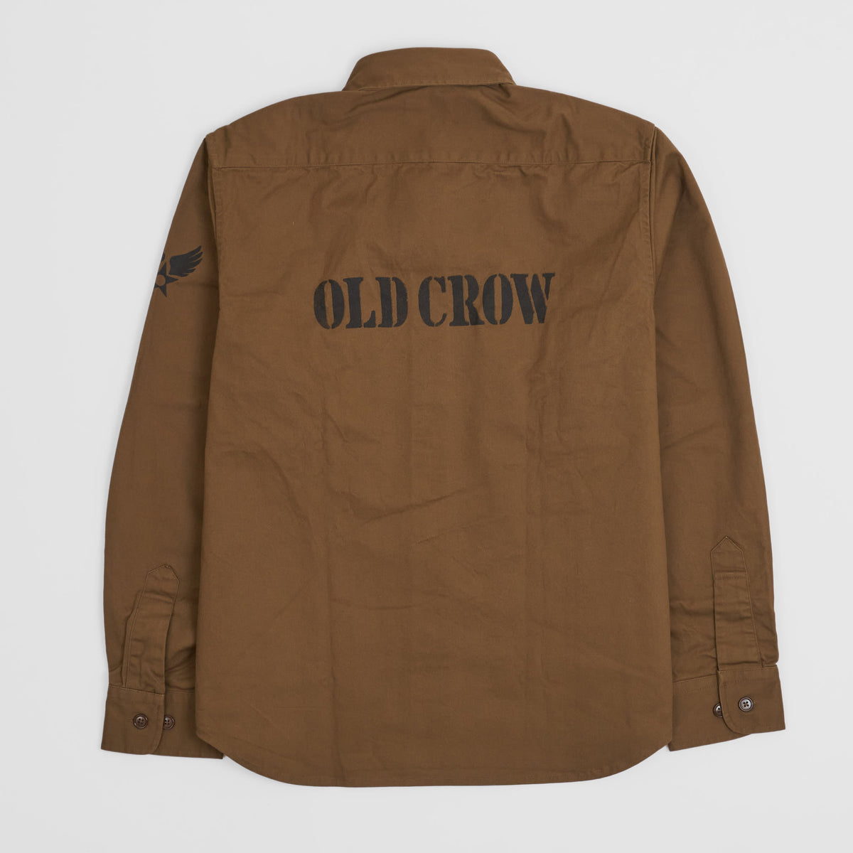 Old Crow Speed Shop by Glad Hand & Co. Officers Long Sleeves Shirt