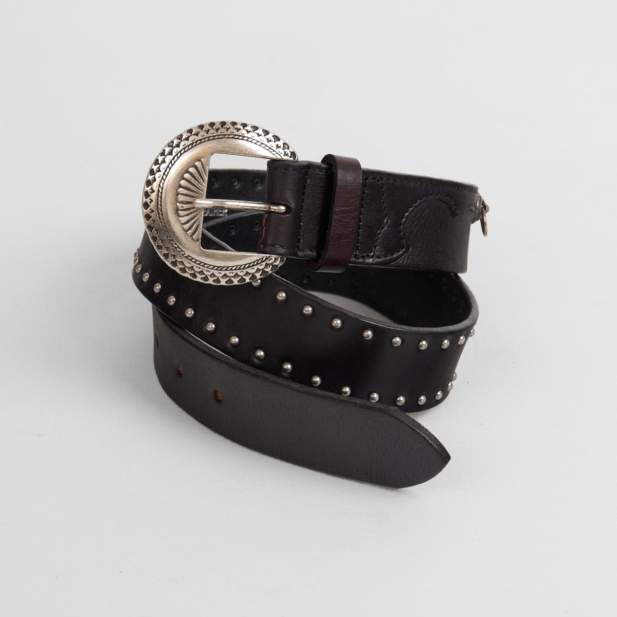 Golden Goose Deluxe Brand Studs Leather Western Belt