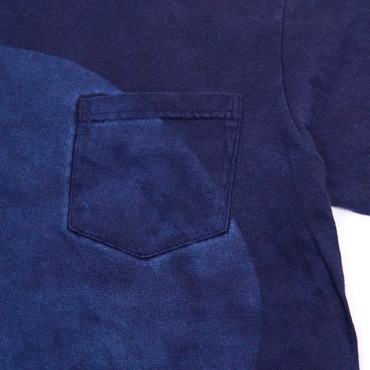 Blue Blue Japan Circle Indigo Crew Neck Pocket T-Shirt