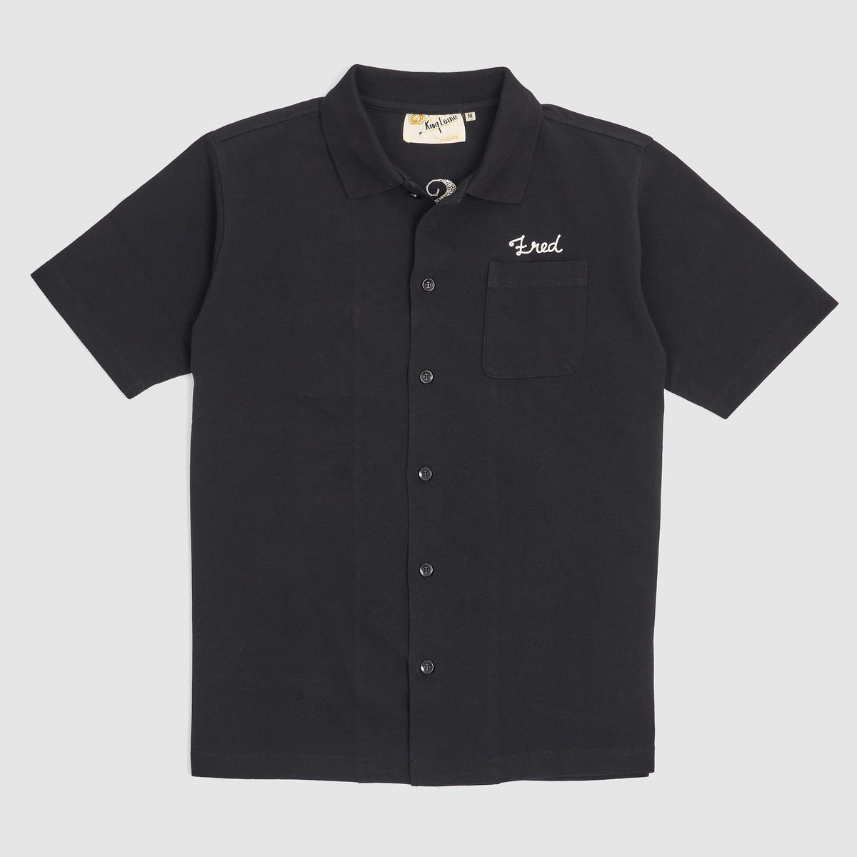 Sugar Cane Embroidered Pique Shirt