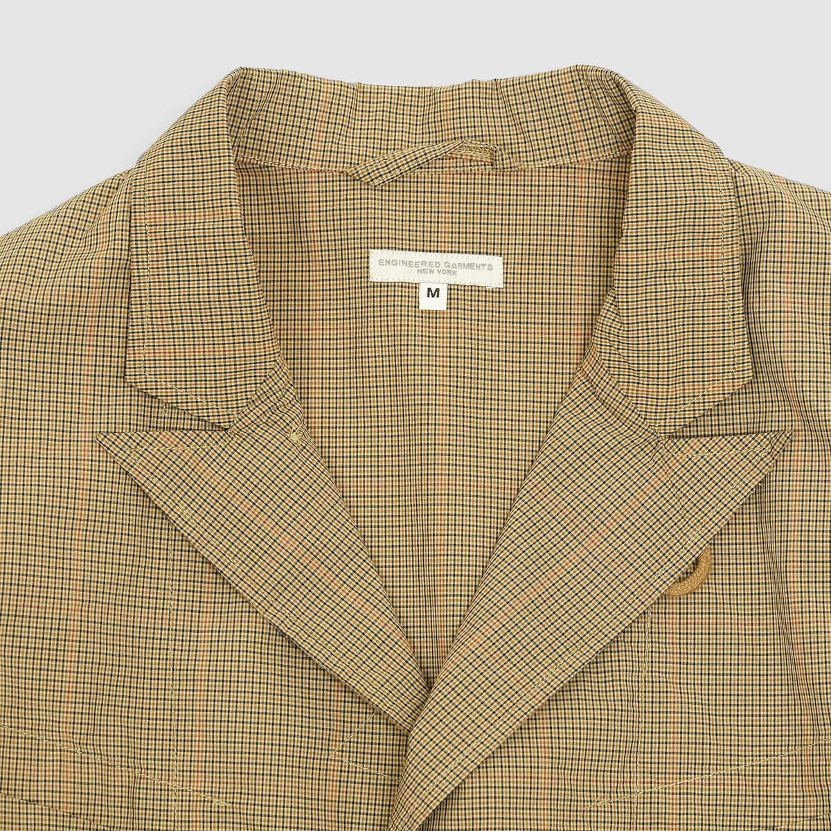 Engineered Garments Mini Tattersall Blazer Jacket Khaki