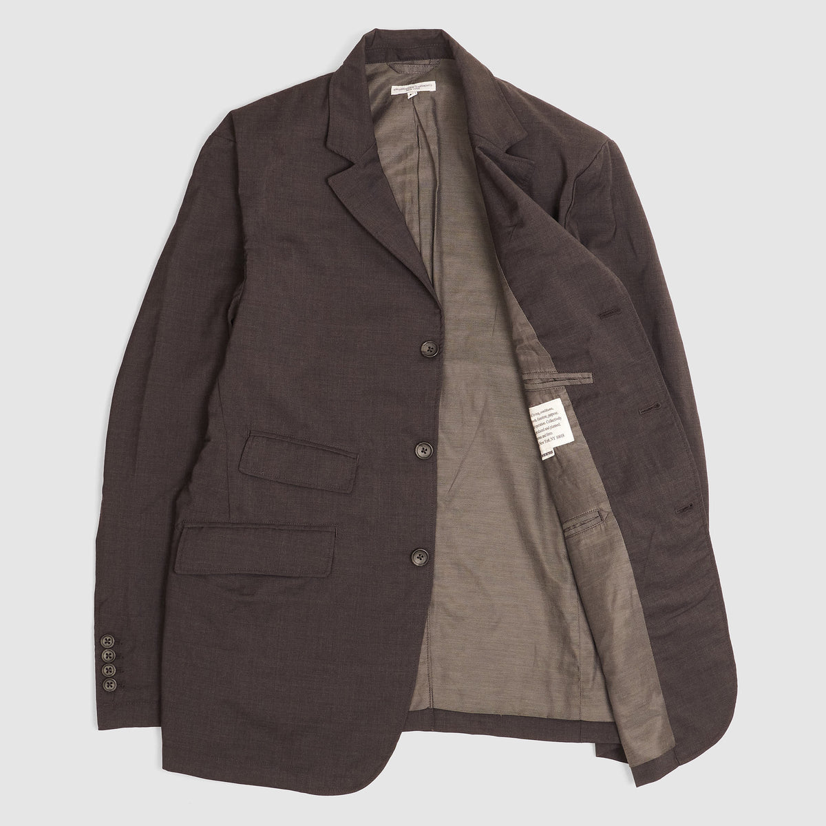Engineered Garments Tropical Wool Blazer Jacket charcoal
