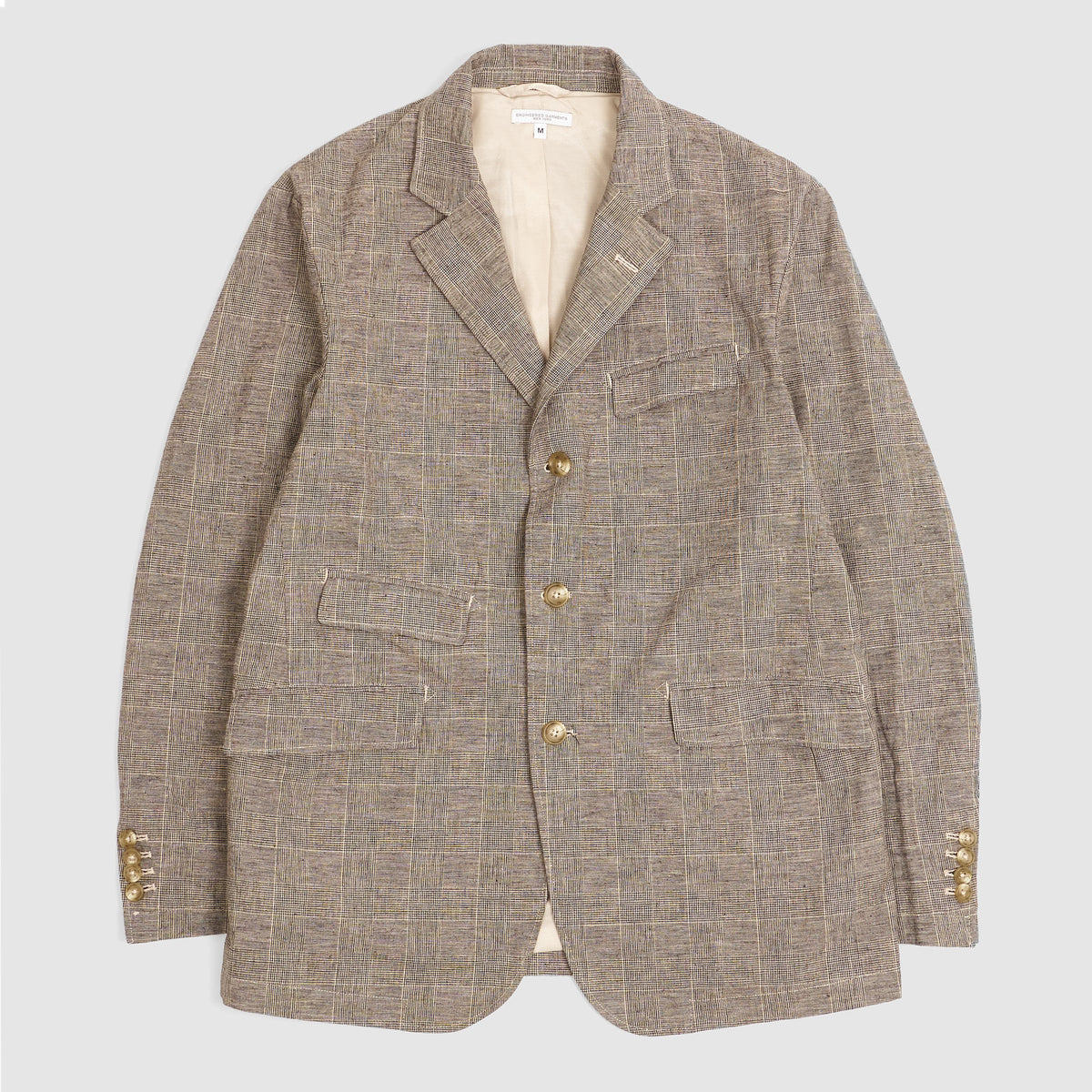 Engineered Garments Glen Plaid Jacket Blazer Grey